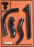 V-Twin Manufacturing 2-into-1 Black Exhaust Header Set
