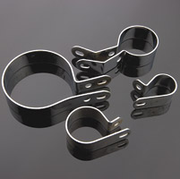 Dennis Corso 4-Piece Chrome Pipe Clamp Set