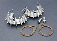 V-Twin Manufacturing Sharks Teeth Exhaust Clamps for Shovelhead