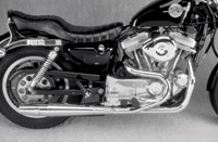 Thunderheader Chrome 2-into-1 Exhaust for XL w/ Mid-Controls