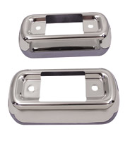 V-Twin Manufacturing Muffler Bracket Cover Set