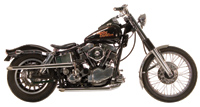 Paughco Shotgun Slash Cut Exhaust System for Panhead