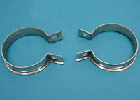 V-Twin Manufacturing 2-Piece Stainless Steel Exhaust Clamp Set