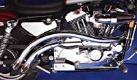 V-Twin Manufacturing Radi Curved Exhaust System for Sportster