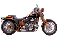 Paughco 2″ Custom 'Dump' Pipes for Softail