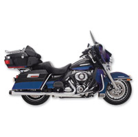 Rinehart Racing 4″ Slip-On Mufflers Chrome with Black End Caps