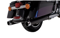 Rinehart Racing 3-1/2″ Slip-On Mufflers Black w/ Chrome End Caps