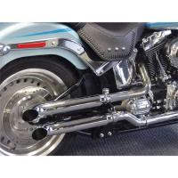 Cycle Shack Turn-Out Slip-On Mufflers for Softail