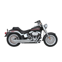 Vance & Hines Double Barrel Staggered Exhaust Chrome