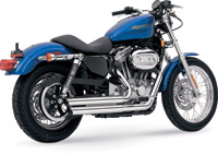 Vance & Hines Q Series Staggered Exhaust for Sportster