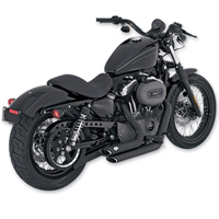 Vance & Hines Black Shortshots Staggered Exhaust System