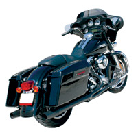 Thunderheader 2-into-1 Black Dual Falsee Exhaust for Touring Models