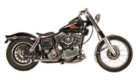 Paughco Staggered Goose-Cut Drag Pipes for Shovelhead