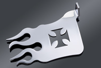 Milwaukee Twins Chrome Maltese Cross Flame Heel Guard