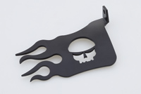 Iowa Metal Solutions Black Skull Flame Heel Guard