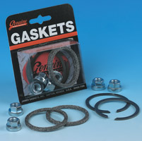 Genuine James Exhaust Mounting Gasket with Square Profile Gaskets