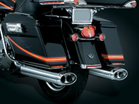 Crusher Beast Oval Mufflers Streamliner for Touring Models