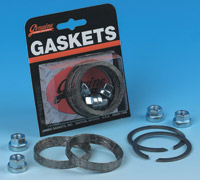 Genuine James Exhaust Gasket Kit with Tappered Profile Gaskets