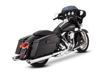 Vance & Hines Chrome Power Duals Header Pipes for Touring Models