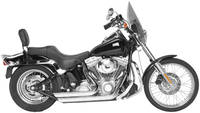 Rush Short Series Chrome Slash-Down Exhaust System