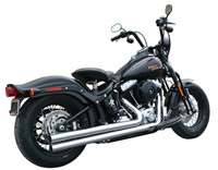Rush Long Series Chrome Straight Cut Exhaust System