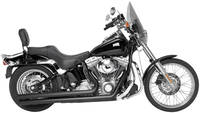 Rush Long Series Black Straight Cut Exhaust System