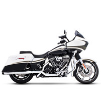 Rinehart Racing Xtreme True Duals Exhaust 3.5″ Mufflers Chrome with Black End Caps