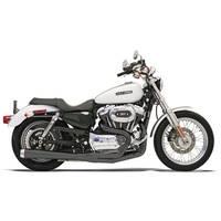 Bassani Road Rage Ceramic Black 2-into-1 Long Megaphone Muffler