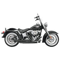 Bassani FireFlight Ceramic Black Exhaust System with Slash-cut Ends