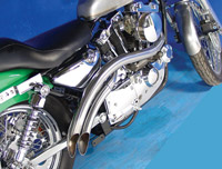 V-Twin Manufacturing Curved Exhaust Headers for Ironhead Sportster