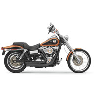 Bassani Firesweep Ceramic Black Exhaust System with Turn Out Ends