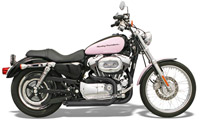 Bassani Pro-Street Black Slash-Cut Exhaust System
