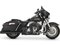 Vance & Hines Black Power Dual Header System for Touring