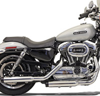 Bassani 3″ Slip-On Mufflers with Black Billet End Cap