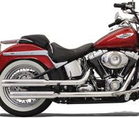 Bassani 3″ Slip-On Mufflers with Polished Billet End Cap