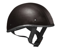 VEGA XTS Naked Leather Black Half Helmet