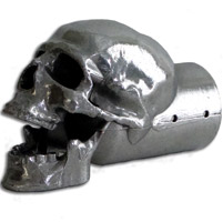 Moto Trix Skull Exhaust Tip Polished