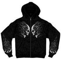 Hot Leathers Head Butt Skulls Zipper Hoodie
