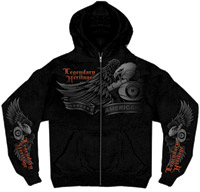 Hot Leathers Legendary Heritage Zip-Up Hoodie