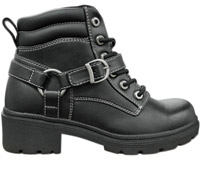 Milwaukee Motorcycle Clothing Co. Women's Paragon Black Leather Boots