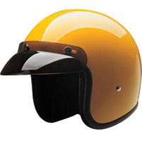 HCI-10 Yellow Open Face Helmet
