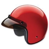 HCI-10 Red Open Face Helmet