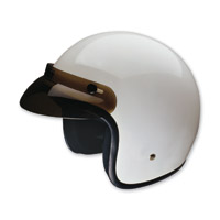 HCI-10 White Open Face Helmet