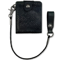 Roland Sands Design Boss Black Leather Wallet