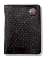 Roland Sands Design Slam Leather Black Billfold