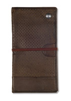 Roland Sands Design Velocity Leather Tobacco Travel Folder