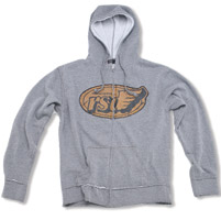 Roland Sands Design Gray Heather Flag Hoodie