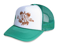 Roland Sands Design Motor Print Green Trucker Hat