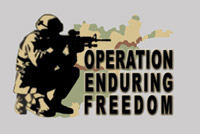 Rumbling Pride Operation Enduring Freedom Flag
