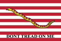 Rumbling Pride Fisrt Navy Jack Flag - Don't Tread on Me